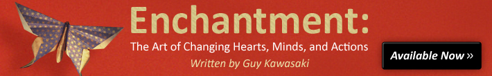 Enchantment Book Ad by Guy Kawasaki